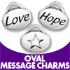 Oval Message Charms