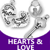 pewter hearts and love