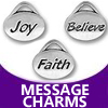 pewter oval message charms