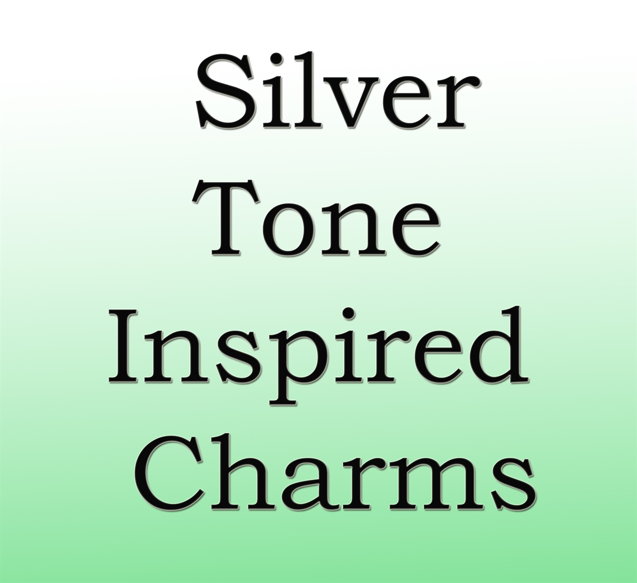 Silver Tone Inspired Charms