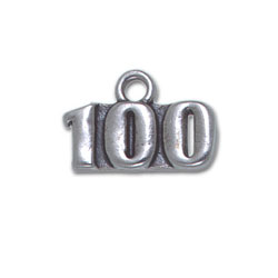 Sterling Silver 100 Charm