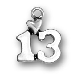 Sterling Silver 13 Charm