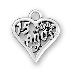 Sterling Silver 15 Años Charm