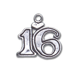 Sterling Silver 16 Charm with Heart