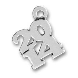 Sterling Silver 2014 Charm