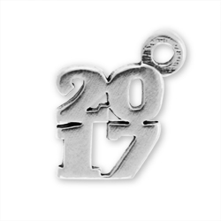 Sterling Silver 2017 Charm