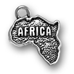 Sterling Silver Africa Charm