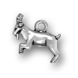 Sterling Silver Capricorn Goat Charm