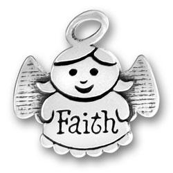 Sterling Silver Faith Angel Charm