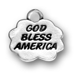 Sterling Silver God Bless America Charm
