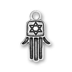 Sterling Silver Hamsa/Hamesh Hand Charm