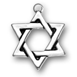 Sterling Silver Large Star of David Charm