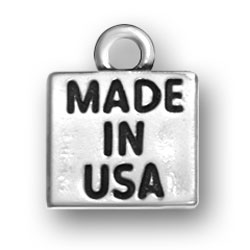 Sterling Silver Made in USA Charm