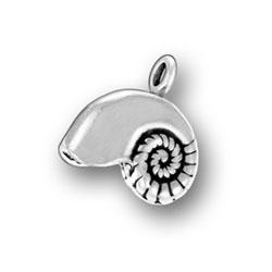 Sterling Silver Nautilus Shell Charm