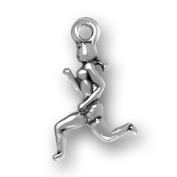 Female Runner Charm Necklace