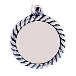 Engravable Sterling Silver Disc Personalized Charm
