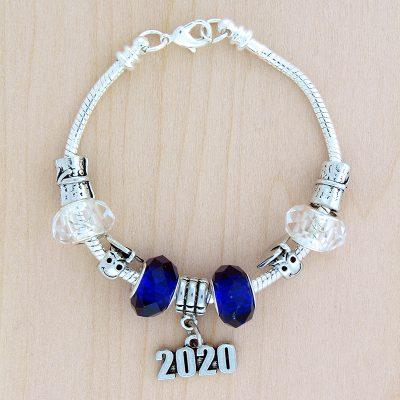 Graduation Year Silver Tone Charm Bracelet