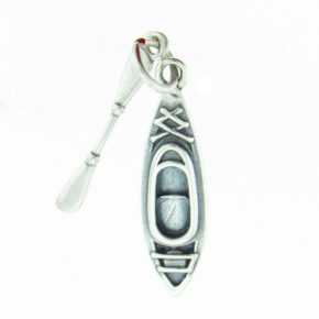 Sterling Silver Kayak Charm